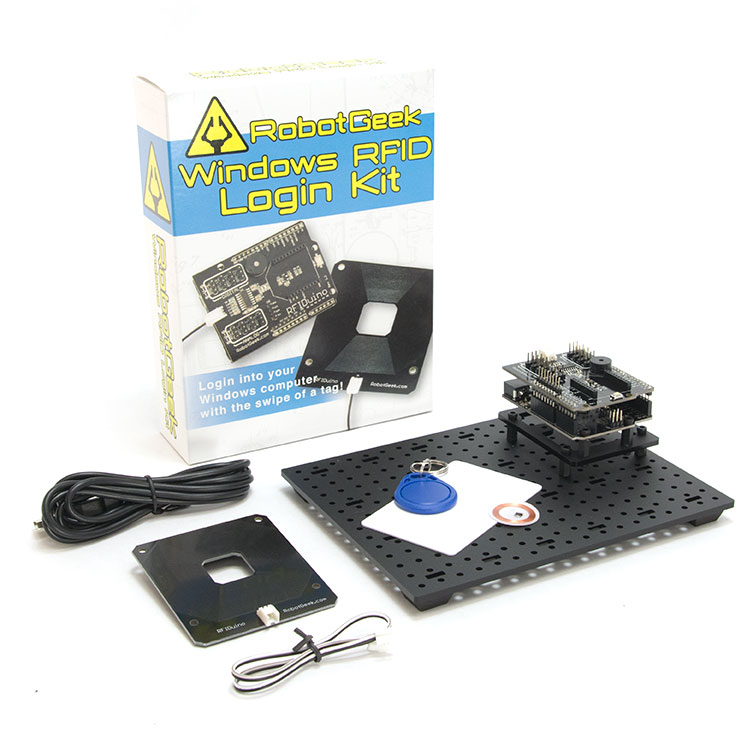 RobotGeek Arduino RFID Windows Login Kit RobotGeek, RFID, Windows, Login, Kit, 8, windows 8, windows 7, windows 10, rfiduino, robot, geek, kb, vista