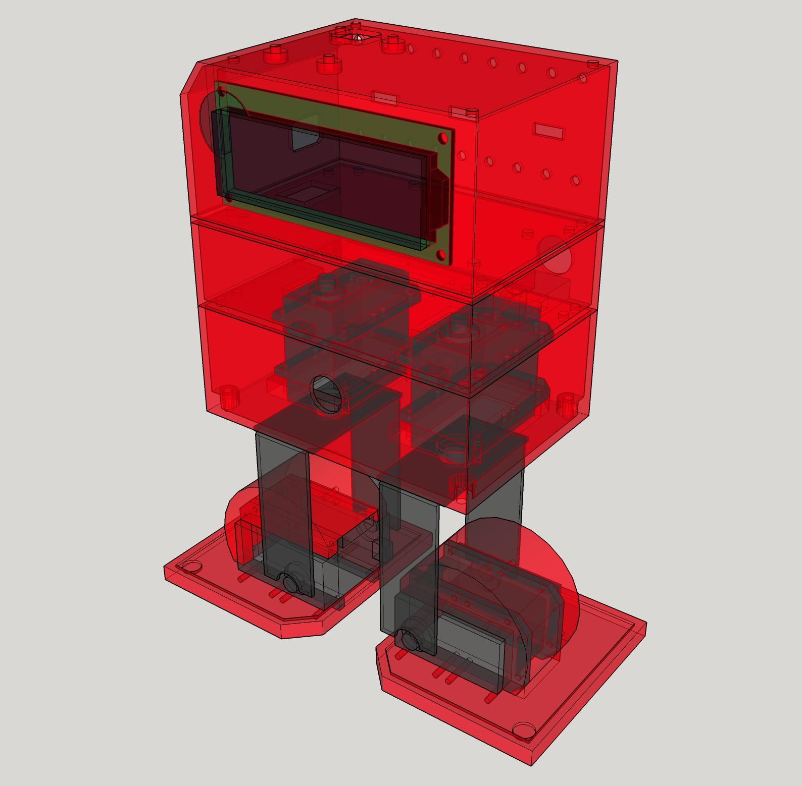 Robotgeek chip e open source arduino d printed biped