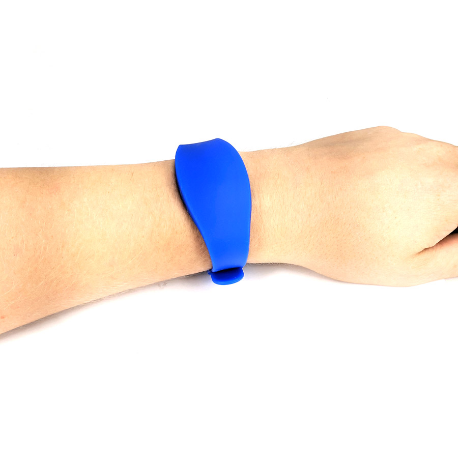 RFID EM4200 Blue Silicone Adjustable Wrist Band, Watch Style - RFID-ADJWRI