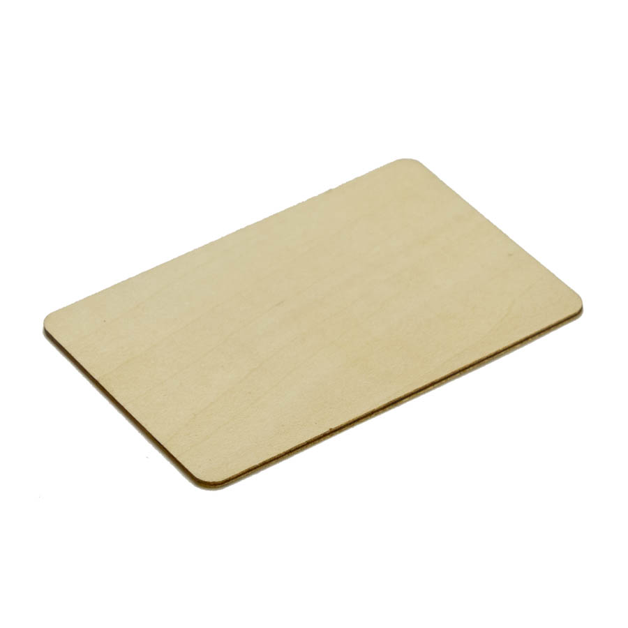 RFID EM4200 Wooden RFID Thin Card - RFID-WOODCARD