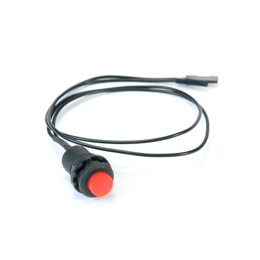 9mm Push Button with Jumper Wires 9mm push buttom with jumpers, 9mm push buttom, red push button, push button with jumpers, button with jumper cables,