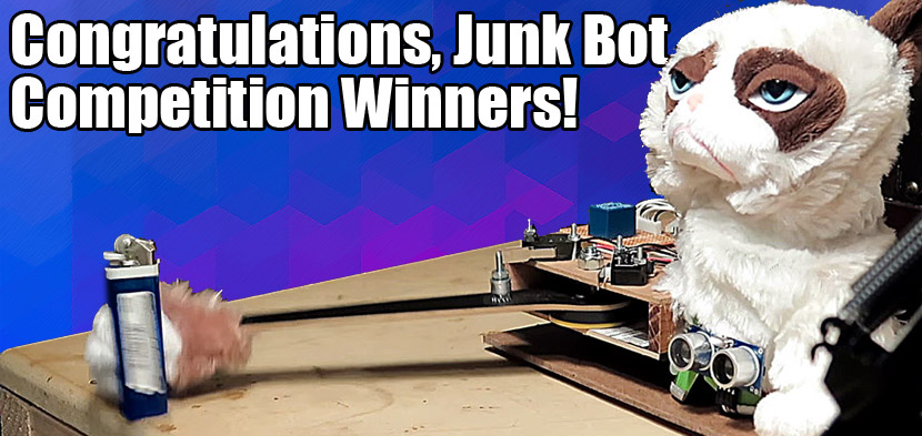Junkbot competition winners!