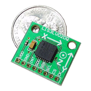 Triple Axis Accelerometer Breakout - LIS3LV02DQ 