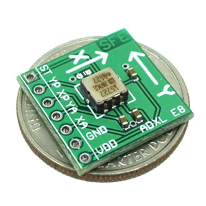Accelerometer Breakout Board - ADXL210AE +/-10g 