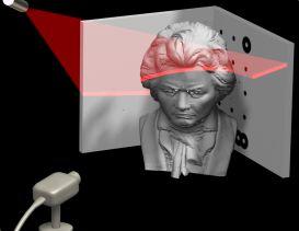 DAVID 3D scanning
