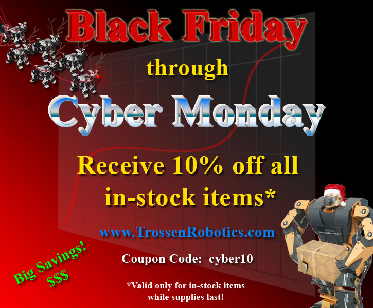 Black Friday Cyber Monday Robotics Sale