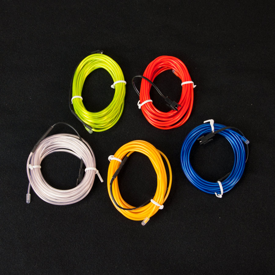 EL Wire el wire, red el wire, blue el wire, yellow el wire, green el wire, white el wire, light wire, 3 meter el wire