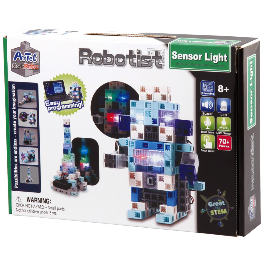 "Artec Blocks ""Robotist"" Sensor Light Artec, blocks, robotist, sensor, light, robot, kit, stem, educational, blockrobo, led, studuino, arduino, geekduino"