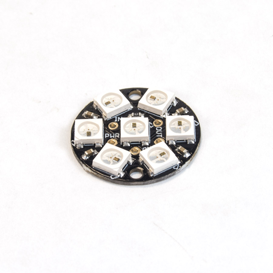 NeoPixel Jewel - 7 x WS2812 5050 RGB LED with Integrated Drivers neopixel, led, jewel, 7, 5050, rgb, driver