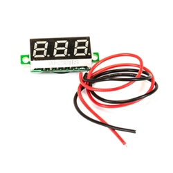 .28 Inch LED Digital DC Voltmeter - Red .28, Inch, LED, Digital, DC, Voltmeter, Red