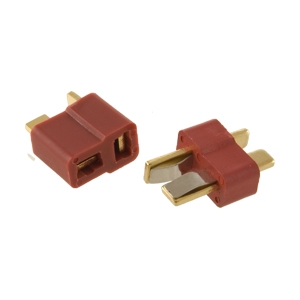 T Connector Male-Female Pair Deans, Ultra, Plug, Battery, Connector, T, Male, Female