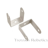 Aluminum Long C Servo Bracket with Ball Bearings Two Pack (Brushed)