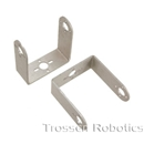 Aluminum Long C Micro Servo Bracket Two Pack (Brushed) Aluminum, Multi-Purpose, C, Micro, Servo, Bracket, Two Pack, Brushed, SES, Lynxmotion, Servo Erector Set
