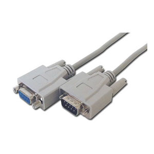 Serial Cable - 6ft - 9-pin - Male/Female DB9 Cable, DB9, DB-9, RS232, RS-232 cable, RS232 cable