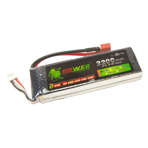 2s 7.4V 2200mAh 25C LiPo Battery - BAT-7V2200