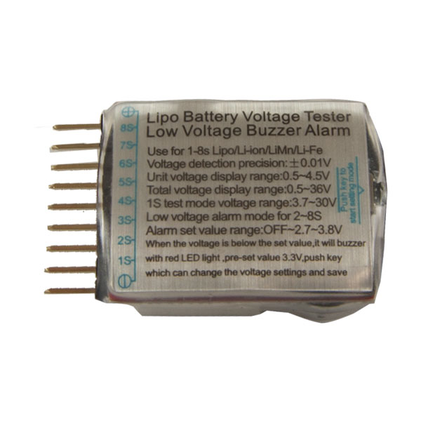 1-8S LiPo Battery Voltage Tester/Monitor - VOLT-TESTER