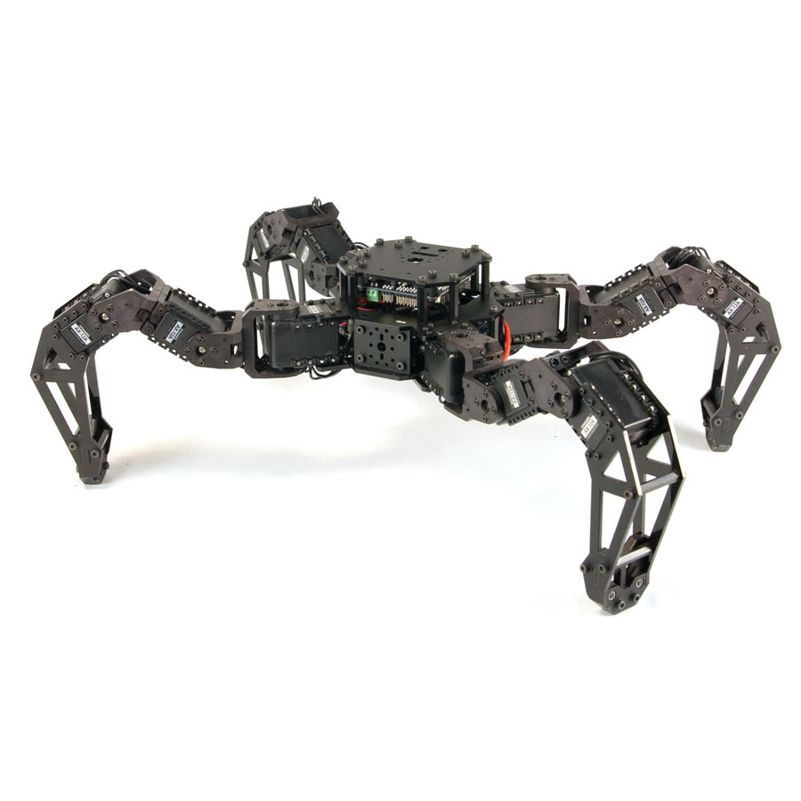 PhantomX AX Quadruped Mark II Kit Interbotix PhantomX AX-12 Quadruped, Quadruped Robot, 4 legged Crawler, Dynamixel quadruped, Robotis quadruped, PhantomX Quadruped