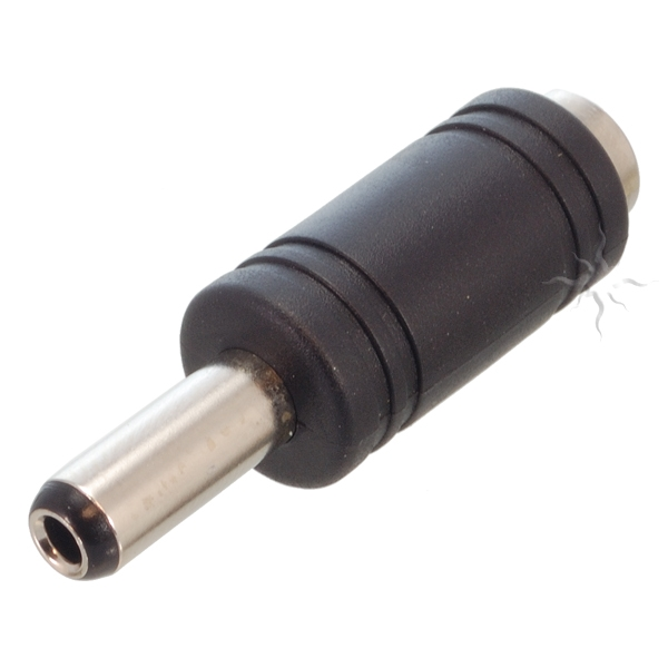 2.1/5.5mm Jack to 2.5/5.5mm Plug Adapter 2.1/5.5mm Jack to 2.5/5.5mm Plug Adapter