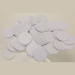Grab Bag Of 868 ICode2 25mm White PVC Coin Tag