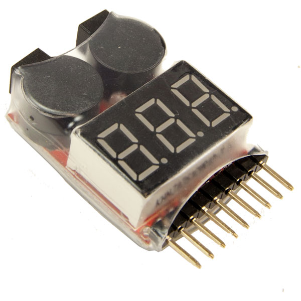 1-8S LiPo Battery Voltage Tester/Monitor LiPo Battery Tester, LiPo Battery Monitor, Battery Monitor, 1-8s