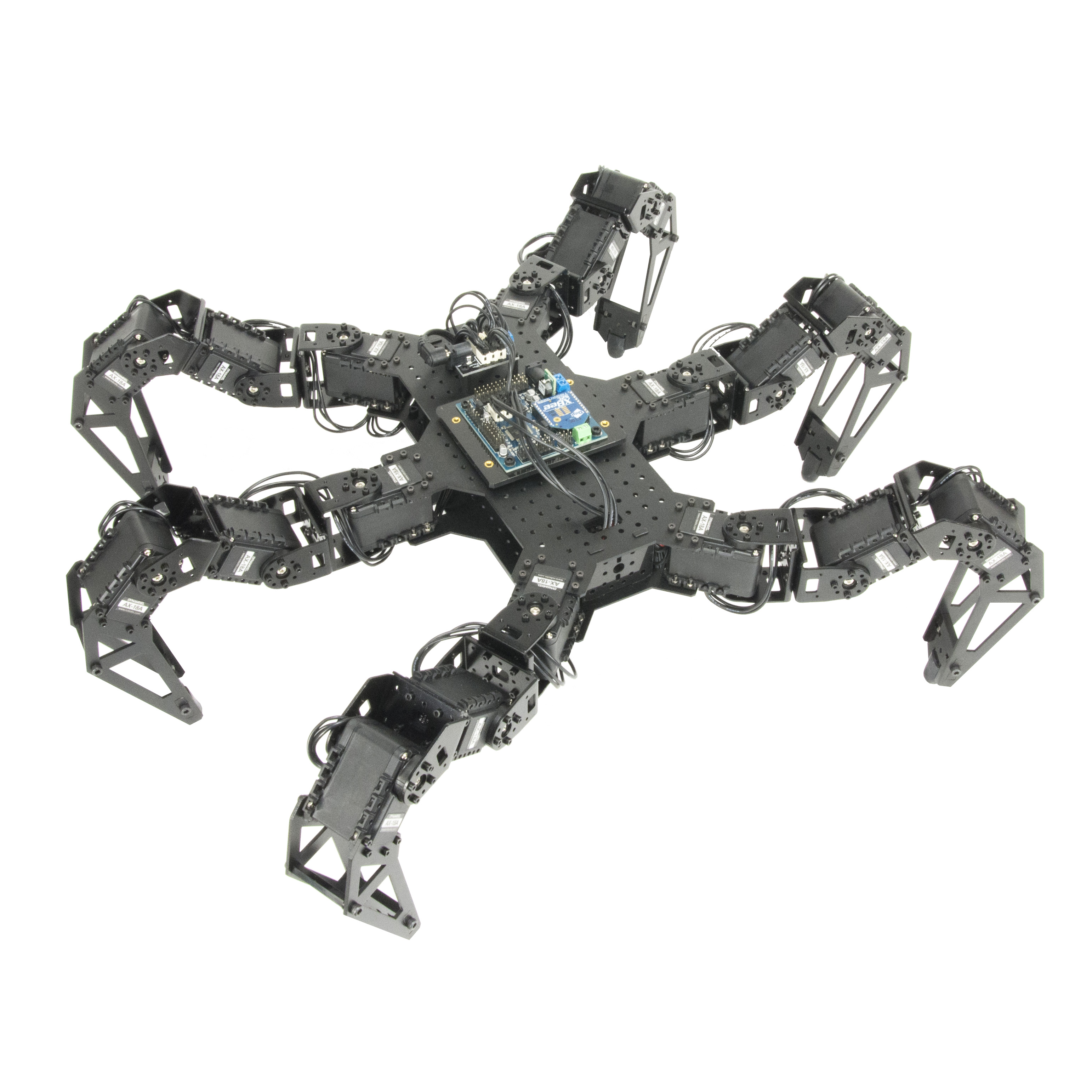 PhantomX AX Metal Hexapod Mark III Kit - KIT-PXC-HEX-MK3-AX12