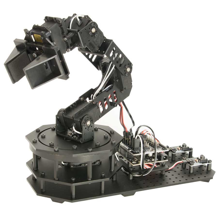 Robotgeek snapper arduino based robotic arm for Robot motors and parts