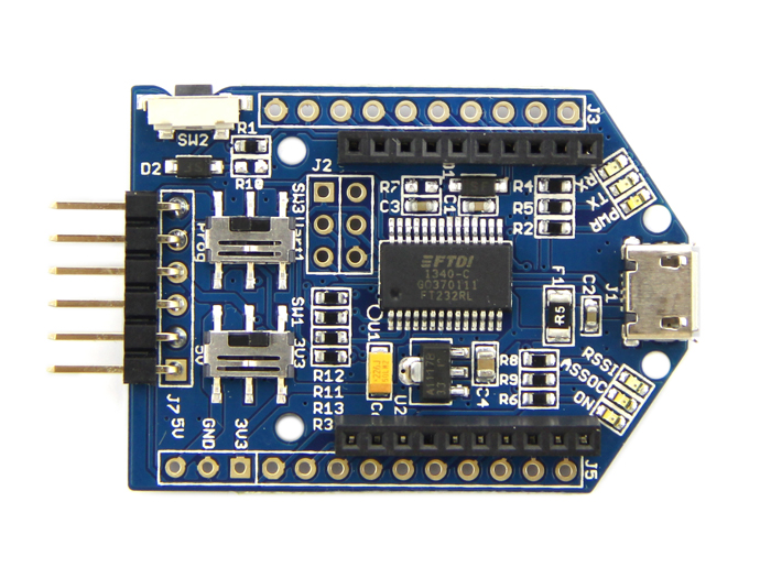 UartSBee V5 (USB-Xbee-TTL Interface) - ASM-SS-INT110B2P