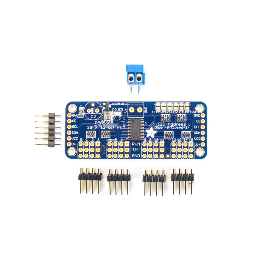 Adafruit 16-Channel 12-bit PWM/Servo Driver - I2C interface - PCA9685 - AF-815