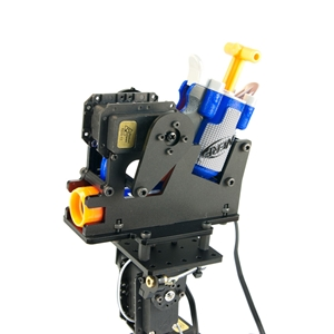 RobotGeek gun mount kit assembled perspective view