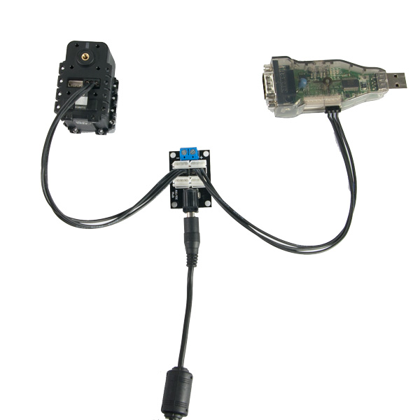 AX/MX Power Hub with AX-12 and USB2DYNAMIXEL