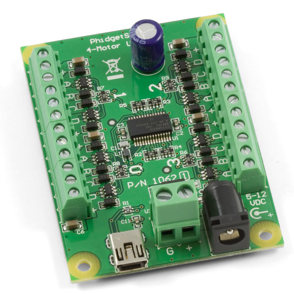 Phidget stepper motor controller for Usb stepper motor controller