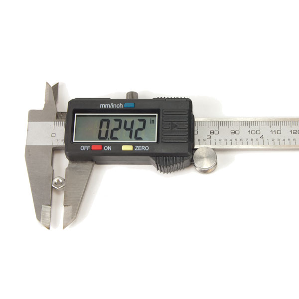 6 Inch Digital Calipers measuring nut